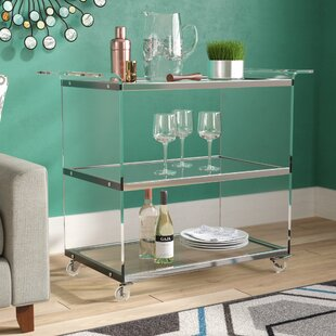 Digennaro Acrylic Bar Cart by Orren Ellis