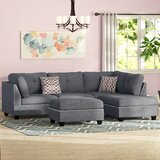 Charlemont 104 Wide Reversible Sofa & Chaise with Ottoman by Alcott Hill®