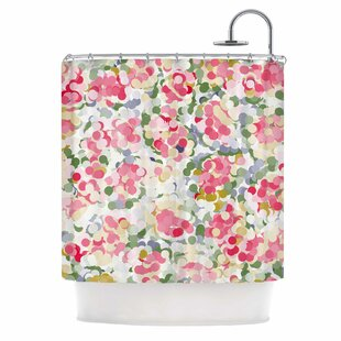 Soft Dots by Matthias Hennig Floral Single Shower Curtain