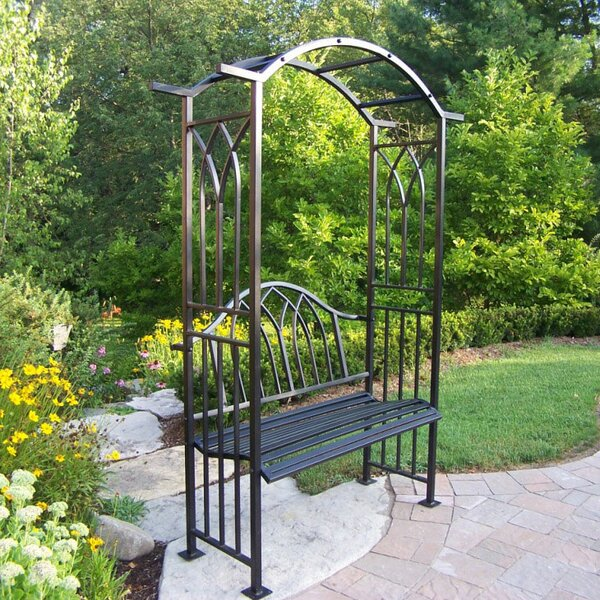 Well-liked Oakland Living Royal Steel Arbor with Bench & Reviews | Wayfair PH12