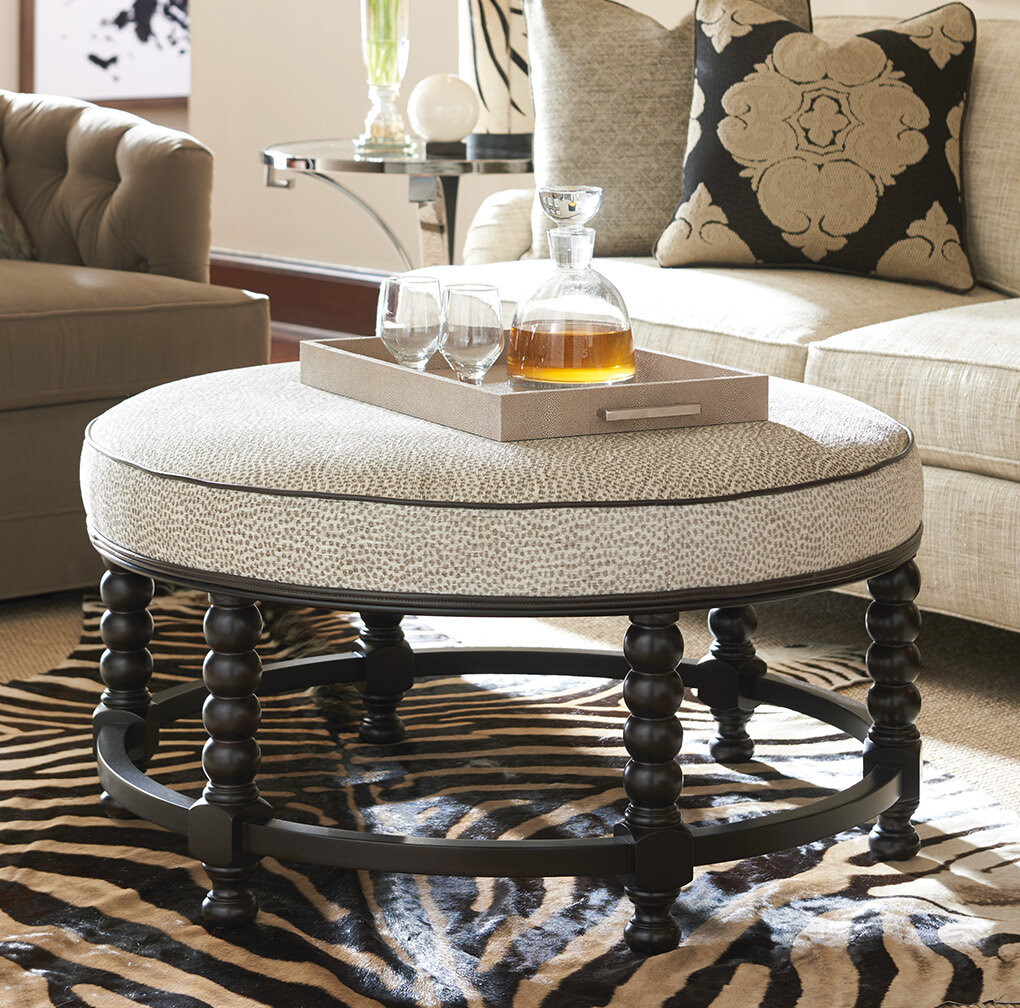 Round Upholstered Coffee Tables Free Shipping Over 35 Wayfair
