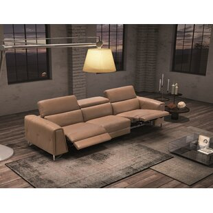 Dahl Leather Reclining Sofa by Orren Ellis