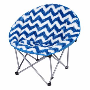 Figaro Chevron Moon Saucer Kids Chair By Zoomie Kids