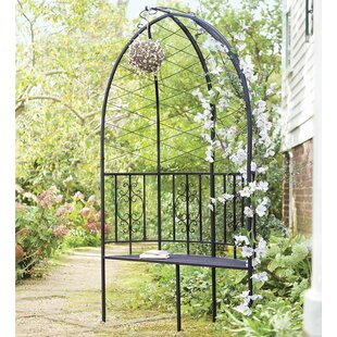 Plow & Hearth Montebello Garden Arbor with Bench