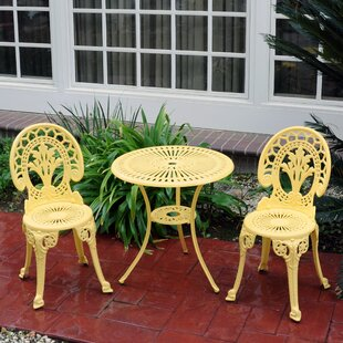 August Grove Mulic 3 Piece Bistro Set