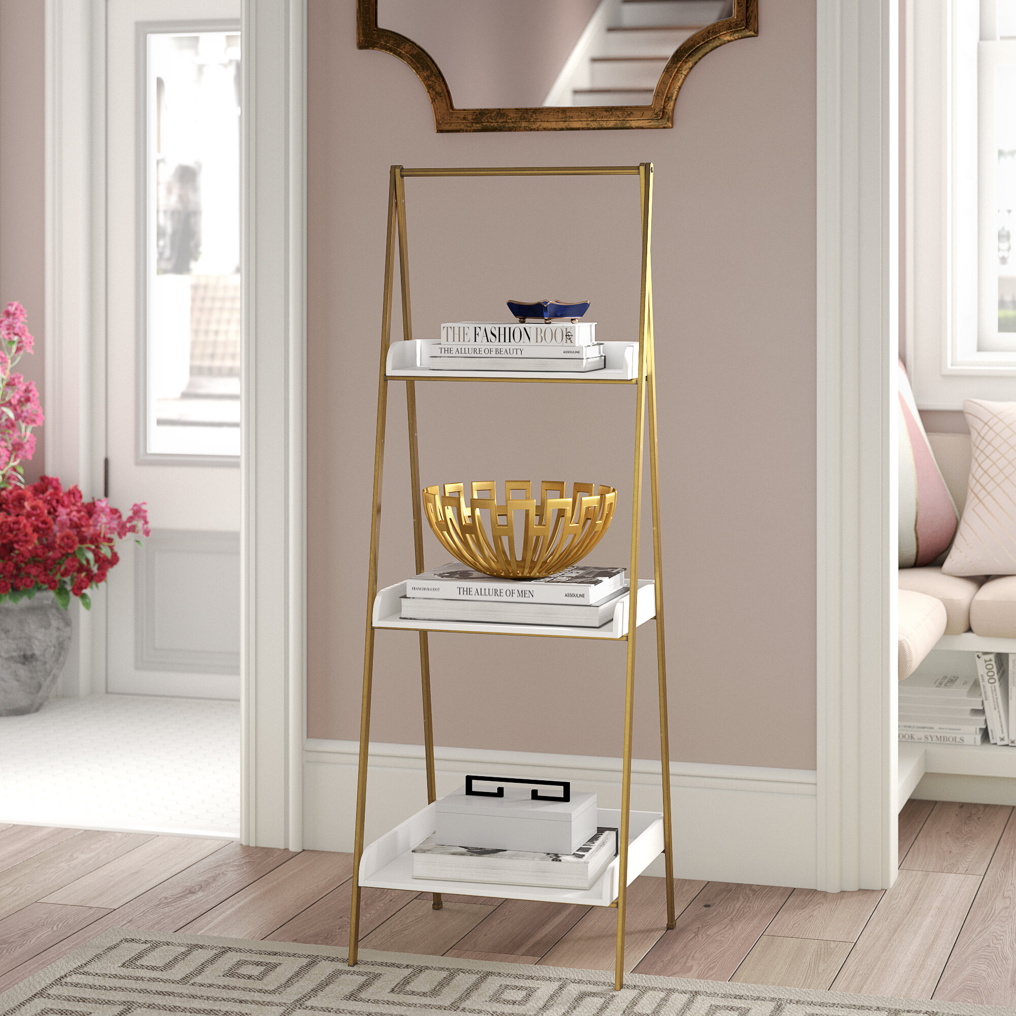 Willa Arlo Interiors Shangrila Ladder Bookcase & Reviews | Wayfair