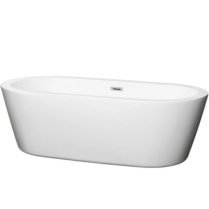 "Mermaid 71"" x 34"" Freestanding Soaking Bathtub"