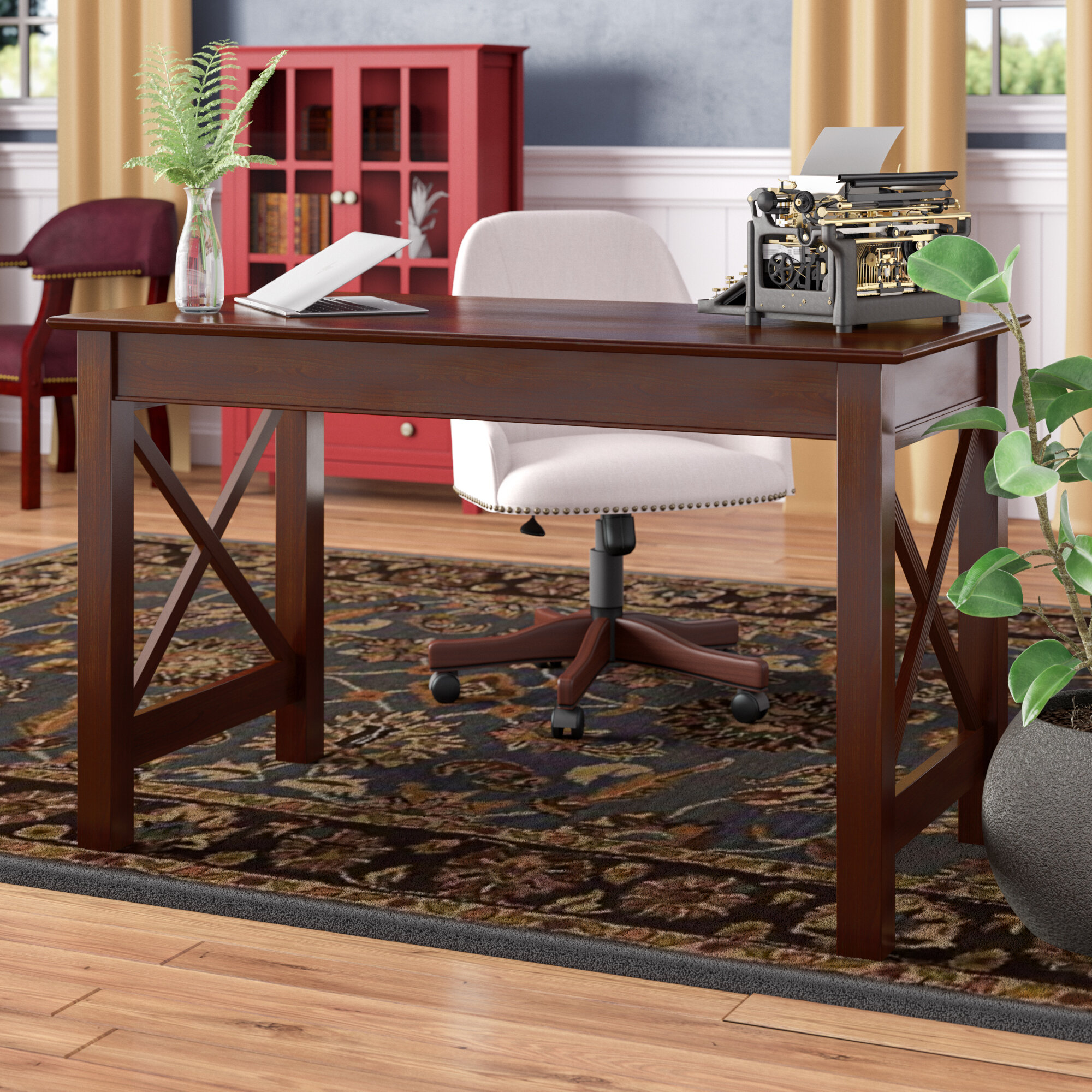 Admirable Tolley Solid Wood Desk Home Interior And Landscaping Synyenasavecom