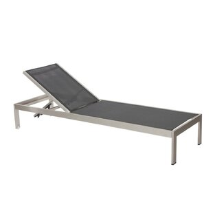 Laws Anodized Aluminum Reclining Chaise Lounge
