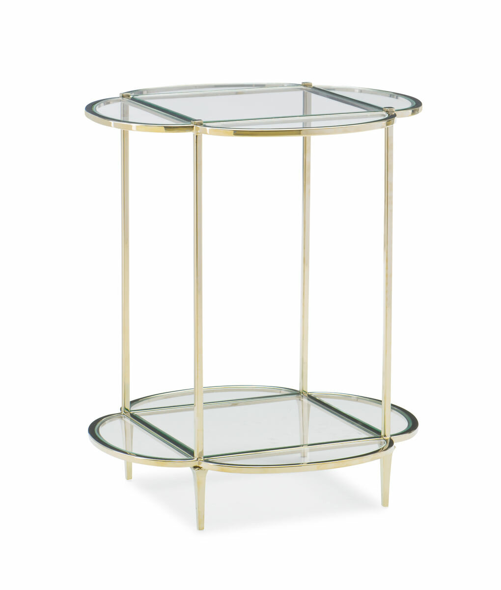Picture of: Caracole Classics Glass Top End Table With Storage Wayfair