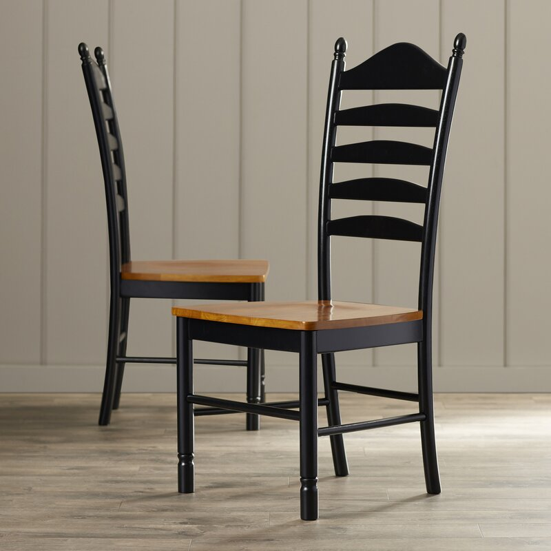 Madison Park Ladderback Solid Wood Dining Chair