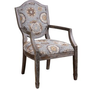 Valene Weathered Armchair by Uttermost