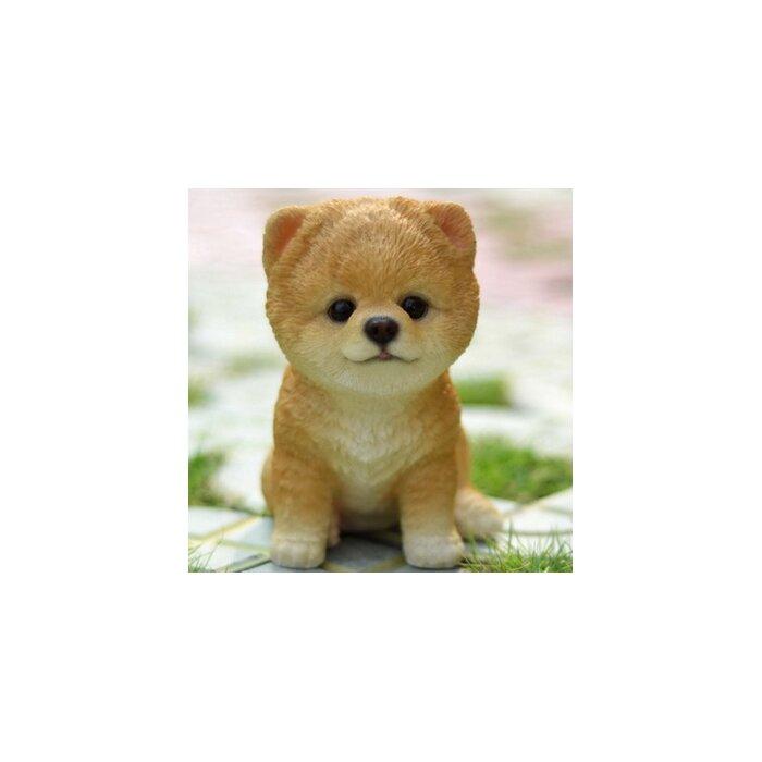 Hi Line Gift Ltd Sitting Pomeranian Puppy Statue Reviews Wayfairca
