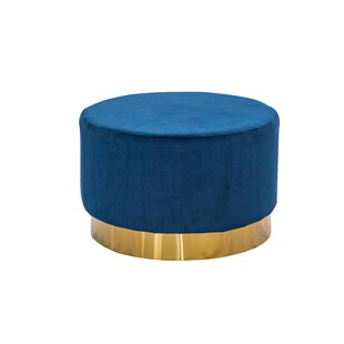 Outstanding Labarbera Velvet Round Pouf Ottoman Andrewgaddart Wooden Chair Designs For Living Room Andrewgaddartcom