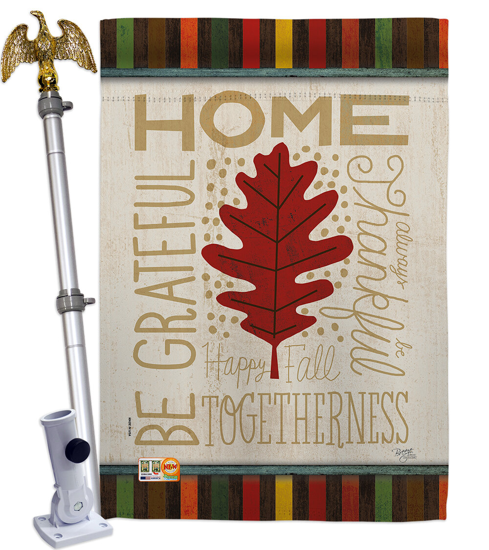 Breeze Decor Home Be Grateful 2 Sided Polyester 40 X 28 In Flag Set Wayfair