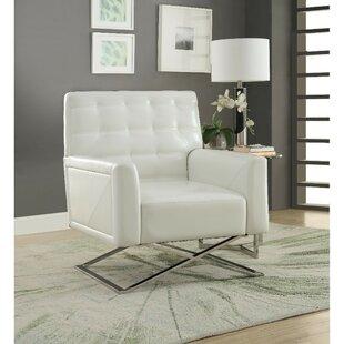 Shorewood Polyurethane Upholstered Metal Armchair