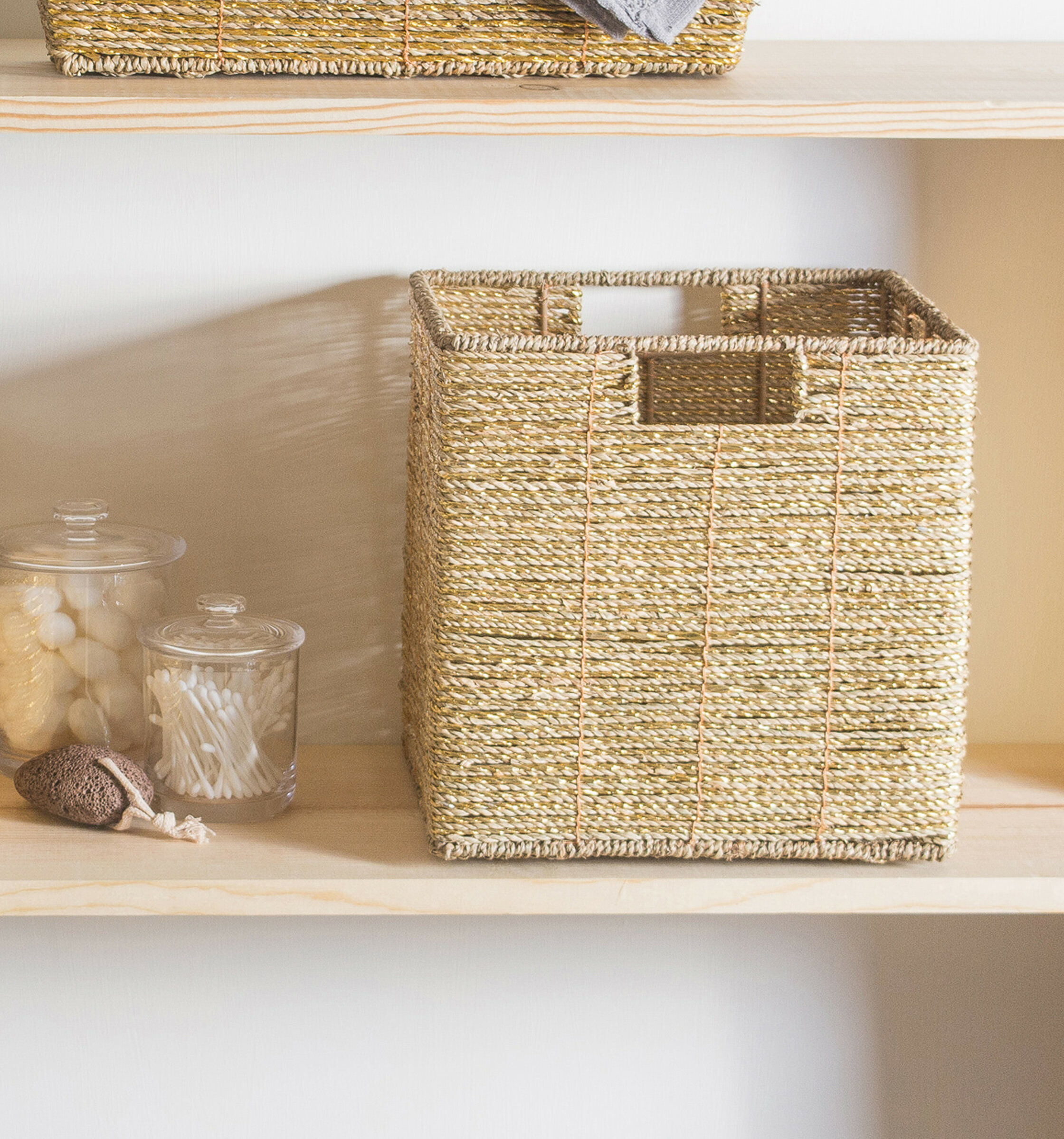 Highland Dunes Seagrass Wicker Basket & Reviews | Wayfair