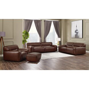 Myriam Leather Configurable Living Room Set By Orren Ellis