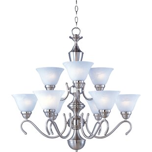 Winston Porter Carlyle 9-Light Shaded Chandelier