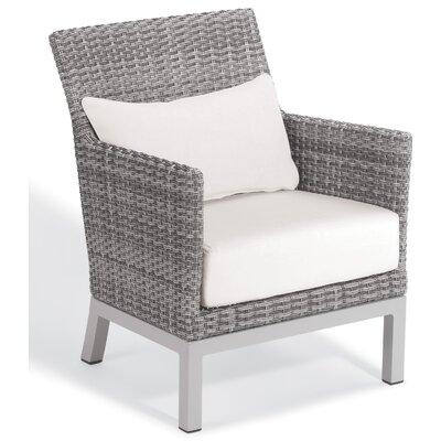 Brayden Studio Saleem Club Patio Chair with Cushions Color: Eggshell White