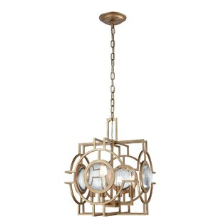 Dassel 4-Light Lantern Chandelier by Merc..