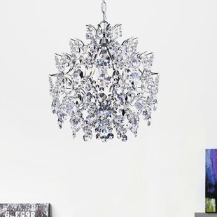 Nolan 3-Light Crystal Chandelier by Rosdo..