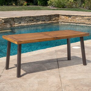 Outdoor Wood Dining Furniture wood patio furniture you'll love | wayfair
