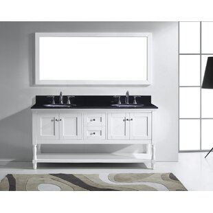Cicely 71 Double Bathroom Vanity Set with Mirror by Gracie Oaks