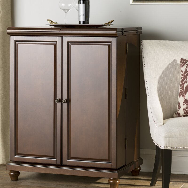 High Quality Goreville Bar Cabinet With Wine Storage