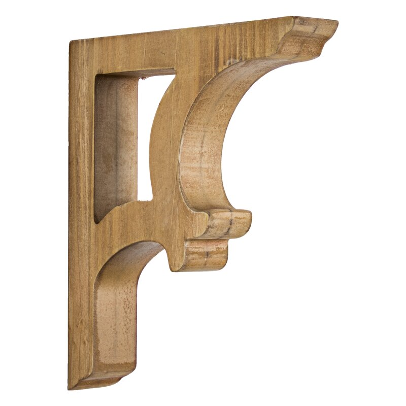 Elberta 2 Piece Wooden Corbels Shelf Brackets Vintage Farmhouse Wall Décor Set