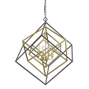 Pederson 4-Light Geometric Chandelier