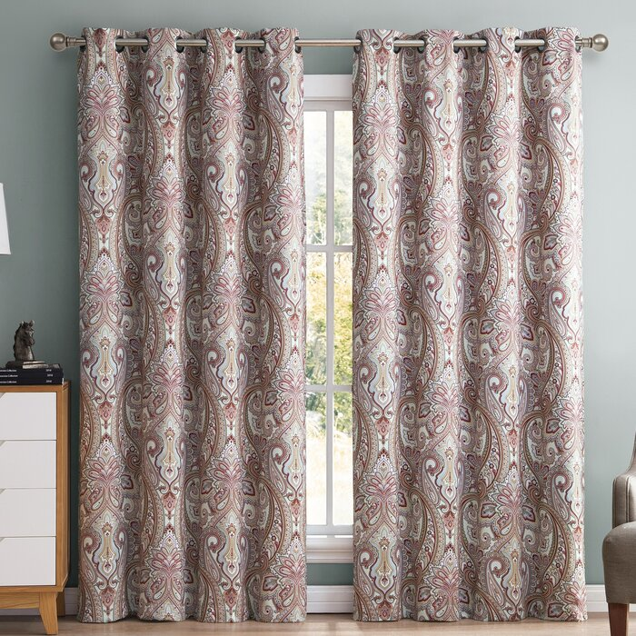 HLC.ME Paisley Damask Blackout Curtain Panels & Reviews | Wayfair.ca