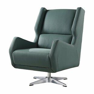 Brayden Studio Laffoon Contemporary Swivel Wingback Chair