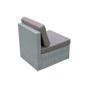 Vernardo Wicker Patio Chair with Cushions