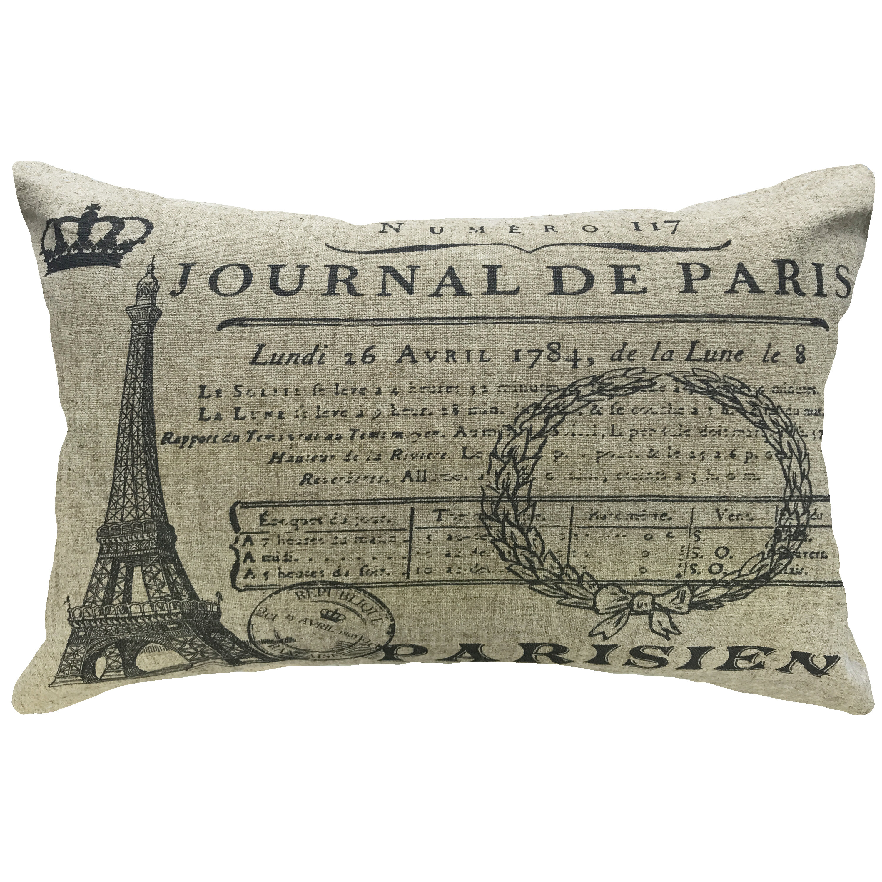 House Of Hampton Salome Paris Eiffel Tower Lumbar Pillow Wayfair
