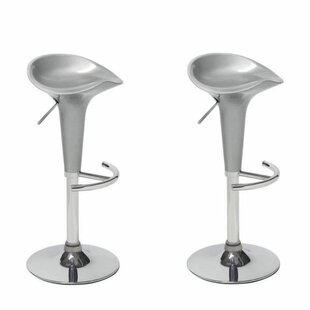 Headly Height Adjustable Bar Stool (Set Of 2) By Ebern Designs
