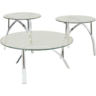 Raiana 3 Piece Coffee Table Set by Orren Ellis