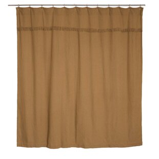 Vassallo Burlap Unlined Cotton Single Shower Curtain