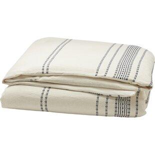 Rippled Stripe Duvet Cover by Coyuchi