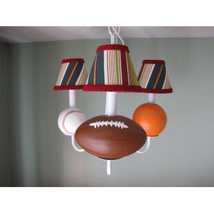 All Star Sports 3-Light Shaded Chandelier by Silly Bear Lighting
