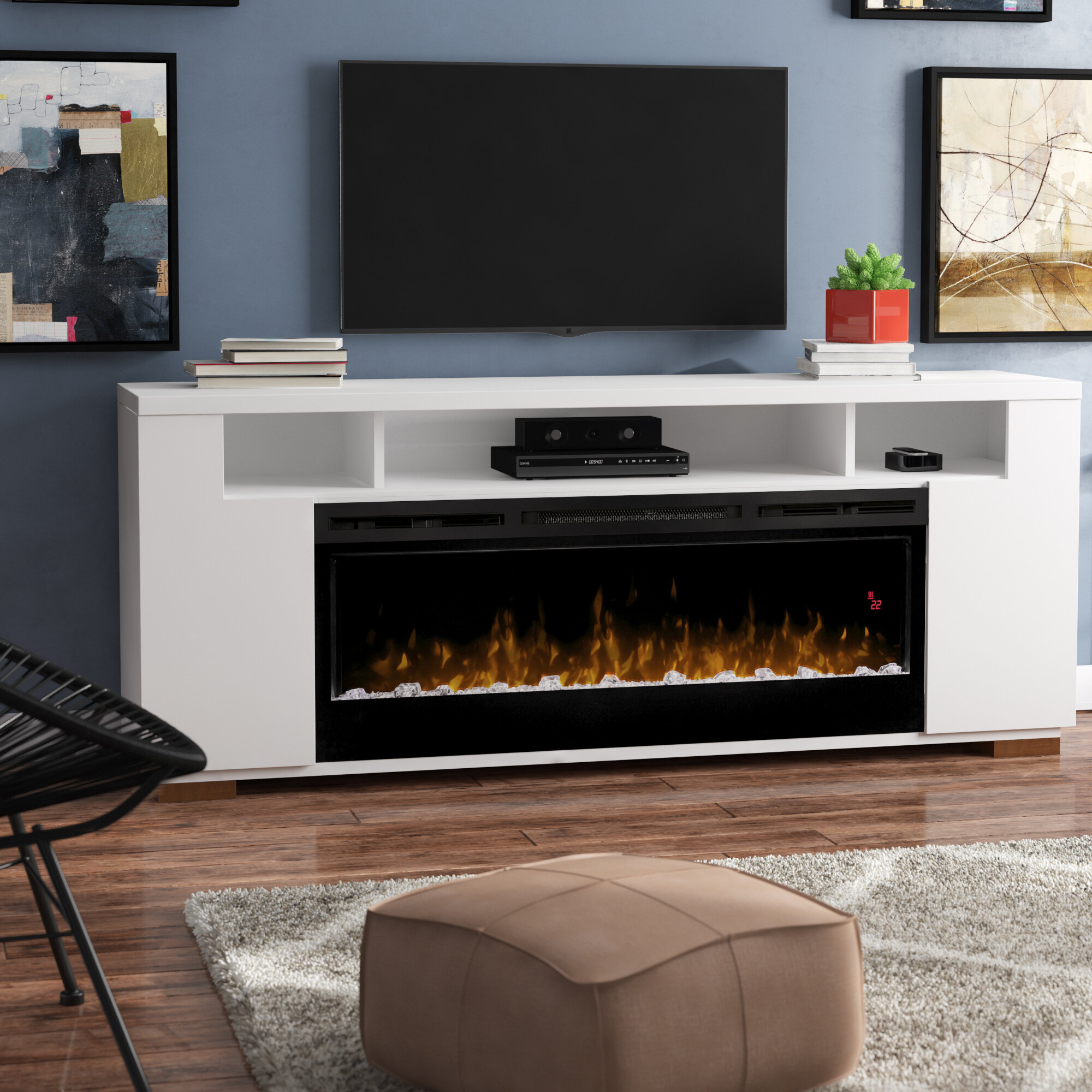 Miraculous Barnett Tv Stand For Tvs Up To 85 Inches With Fireplace Included Gmtry Best Dining Table And Chair Ideas Images Gmtryco