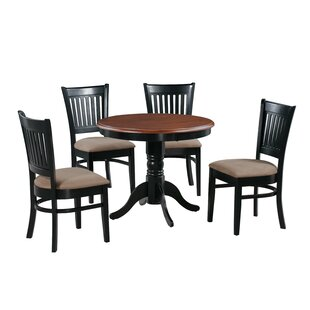 Corcoran 5 Piece Solid Wood Dining Set by Alcott Hill