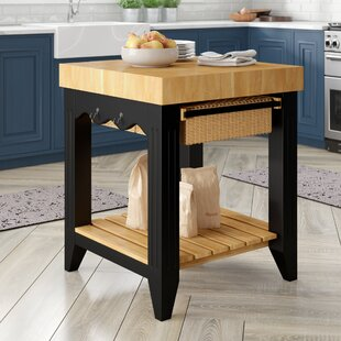Behling Prep Table with Butcher Block Top Red Barrel Studio