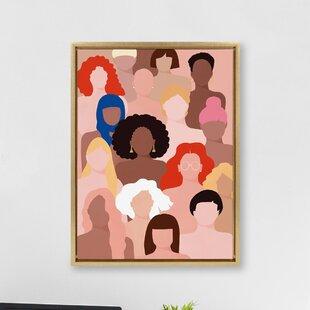 Modern Contemporary Gold Fram Large Art Allmodern