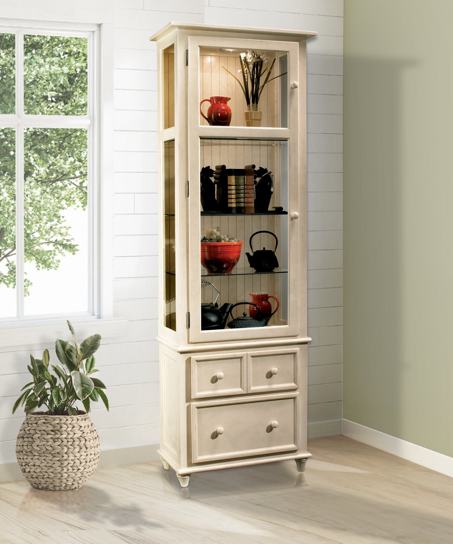 Darby Home Co Shelia Lighted China Cabinet Reviews Wayfair