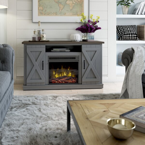 Gray Fireplace Tv Stand Wayfair