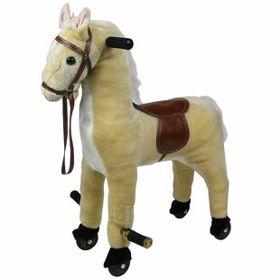 Find a Plush Walking Horse with Wheels and Foot Rest ByHappy Trails