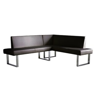 Wade Logan Robb Faux Leather Corner Bench