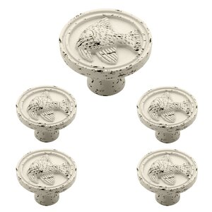 Seaside Cottage 5 Piece Angel Fish Round Knob