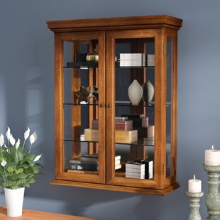 Charlton Home Cassette Wall-Mounted Curio Cabinet